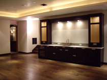 AMW Builders Ltd - Laurel Job - Wet bar/Media room with wine cellar entrance