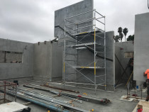AMW Builders Ltd - Chauvel project - litecrete concrete panels erected