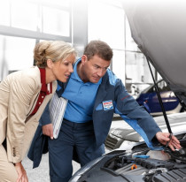 Bosch Mechanic with Customer at Anzac Automotive