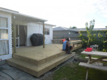 Brand New Deck - Botanical - A.S. Building Ltd - Brand new deck with with built in seating