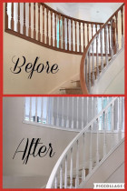 Stair balustrading b Asset Property Services Ltd - Before/after