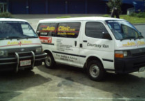 Two Toyota Hiace Loan Vans available - We offer a flexible swap out service for our clients and for customers such as couriers we can go to a broken down vehicle & take a loan van so theres no getting stranded & letting customers down.