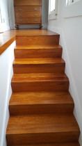 7 - Internal stairs by Auckland Villa Restorations Ltd - After developing a basement we installed a Rosewood internal staircase and landing, the colours looked fantastic and became a feature of the dwelling.