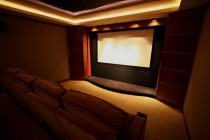 Home Theatre - Bespoke Home Theatre setup with sound treatments and dedicated theatre seating.