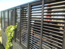 Fixed louvre fence panels - Seen from outside property - great privacy