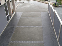 Bedrock Pavers-exposed aggregate with colour inlay