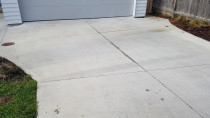 Driveway before being washed