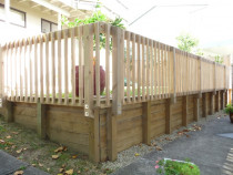 Retaining Wall With Handrail by Built Rite Construction 2010 Ltd