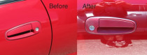 Red Car Before and After