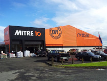 Mitre 10 by Citywide Decorators - Mitre 10 Re-brand. Water Blast building, apply 1 undercoat, 2 topcoats of Resene Lumbersider.
