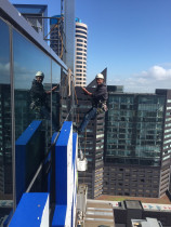 High rise window cleaning by Clean Start - window cleaning Auckland city