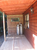 deck with funky end wall - Cleanline Bathrooms Ltd