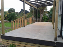 vitex decking by CN Builders - new deck