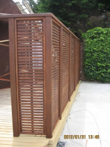 Completed trellis fence - Recently completed trellis fence