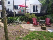 Titirangi deck extension  - Constructive Solutions North Island Ltd - This is the before shot ...