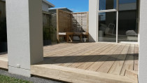 140 mm pine deck over concrete patio completed by DECKHQ