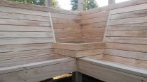Pine seating area by DECKHQ