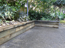 Tanalith E treated retaining wall completed by DECKHQ
