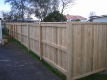 Pine boundary fence by DECKHQ
