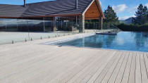 Verdadeck antique grey around pool area by DECKHQ