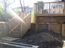 Deck being built