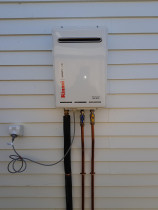 Gas hot water upgrade by DJR Plumbing
