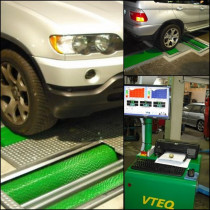 VTEQ SAFETY TEST LANE at Driscoll Motors Limited - This machine is  designed to diagnose the safety elements of a vehicle. This machine consists of a Wheel  alignment, suspension and brake testers.