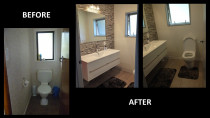Bathroom Remodel. Before and after