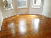Kauri floor finished in a satin finish by Endless Flooring - This is an Onehunga property which has a Kauri floor, we finished it with a satin moisture cured polyurethane.