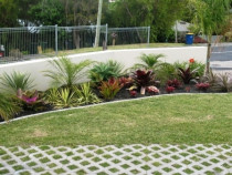 Turfblocs, paver edging and planting