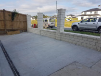 Concrete, fence, drainage for a new property in Flat bush