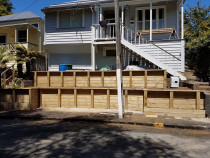 Kingsland retaining project