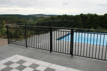 Regency pool fencing - This is a custom made aluminium pool fence.