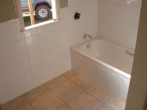Five Star Tiling Ltd - Small Bathroom With Shower Over Bath