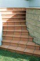 Five Star Tiling Ltd - Bullnose Terracotta steps to deck
