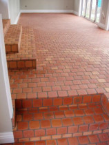 Five Star Tiling Ltd - Terracotta Cobble Tiles in rumpus room