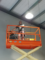 High access work - This was a survey company in Ellerslie needing LED High bay lighting