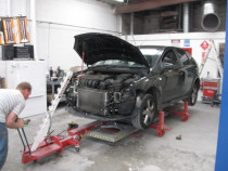 Chassis Alignment by Glenfield Panelbeaters & Painters Ltd - Here, we are re- aligning an accident damaged vehicle