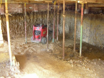 Between Acroprops - Basement excavation