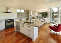 new kitchen and lounge room open plan by Goodwin Construction Ltd