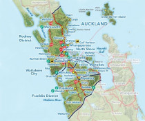 Map of GP Insulation Areas Covered in Auckland