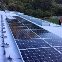 Solar installation at Zealandia, Wellington by Green Van Electrical