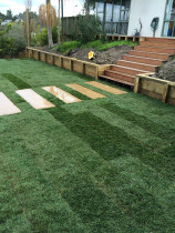 Ground Up Landscaping - Retaining & New Lawn