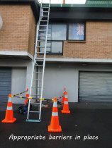 Safety isn't just about roof work - At Gutter Geeks Ltd we use appropriate cones and rails to avoid any issues at ground level.