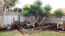 New Raised Feature Garden Using Recycled Railway Sleepers