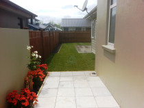 New White 450mm x 450mm Pavers + New Ready Lawn Laid