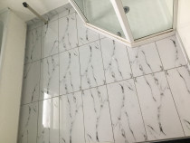 Bathroom Floor - This one done at Normandale Lower Hutt by HEK Tiling Team. We always do like this great job.
