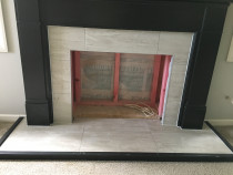 Fireplace by HEK Tiling Ltd - This small project, we had removed old tiles and installed new as showes on this photo