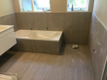 Bathroom wall and floor 600x600 tiles - HEK team did this high quality job in Whitby recently