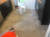 Kitchen Floor - This kitchen floor done by HEK at Harbour View Lower Hutt.